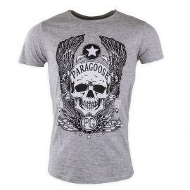 Tee shirt uni tête de mort Homme Speed PARAGOOSE marque pas cher prix dégriffés destockage