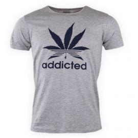 Tee shirt manches courtes uni floqué Homme Addict PARAGOOSE marque pas cher prix dégriffés destockage