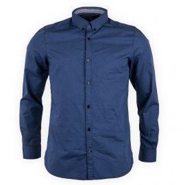 Chemise imprimée fitted bleu homme TOM TAILOR