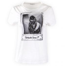 Tee shirt imprimé blanc Femme PEPE JEANS