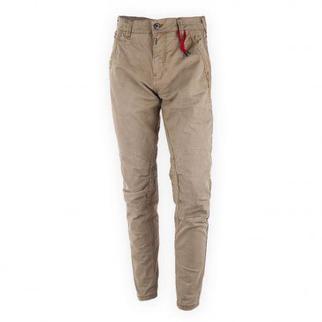 Pantalons beige TIME ZONE marque pas cher prix dégriffés destockage