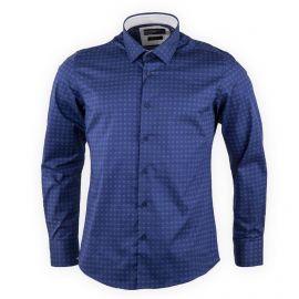 Chemise homme bleu marine manches longues TORRENTE marque pas cher prix dégriffés destockage