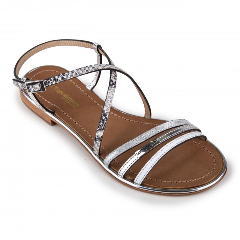 Sandales bi-colores BALISE Femme LES TROPEZIENNES PAR M.BELARBI marque pas cher prix dégriffés destockage