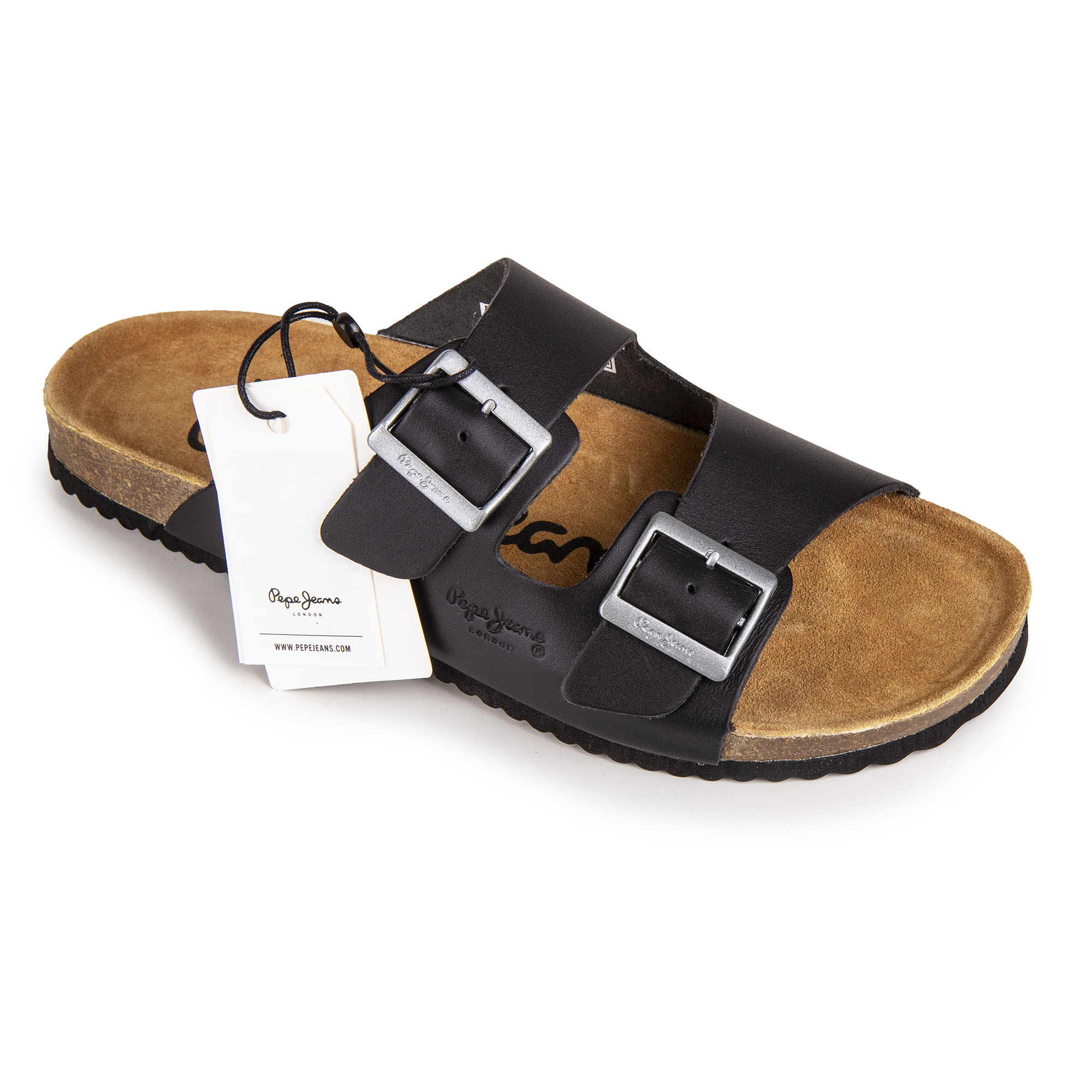 f21a9aad6 Mules cuir double Homme Bio Man PEPE JEANS