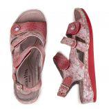 Sandales à motifs rouge Femme Brcuelo 069 LAURA VITA marque pas cher prix dégriffés destockage