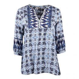Haut imprimé bleu Femme DDP marque pas cher prix dégriffés destockage