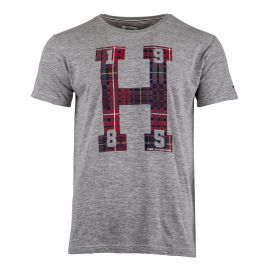 Tee shirt gris manches courtes Homme TOMMY HILFIGER
