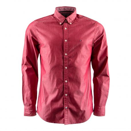Chemise rouge manches longues Homme TOMMY