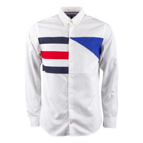 Chemise blanche à motif Homme TOMMY HILFIGER