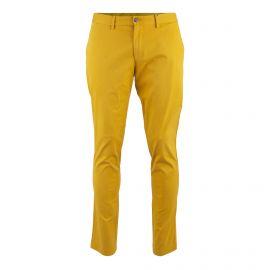 Pantalon chino slim fit moutarde Homme TOMMY HILFIGER marque pas cher prix dégriffés destockage