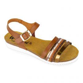 Sandales plates camel Femme WHY LAND