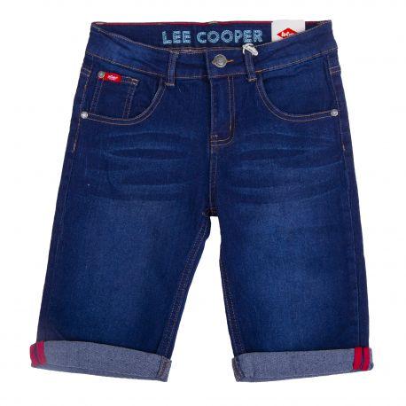 Bermuda en jean bleu brut glc28001 Enfant LEE COOPER marque pas cher prix dégriffés destockage