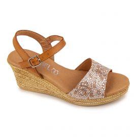 Sandale compense sabana picaso 9569 cuir Femme ISSA MIEL