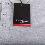 Polo uni en coton piqué manches courtes Homme PIERRE CARDIN marque pas cher prix dégriffés destockage
