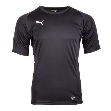 Tee shirt noir manches courtes 65529203 Homme PUMA marque pas cher prix dégriffés destockage