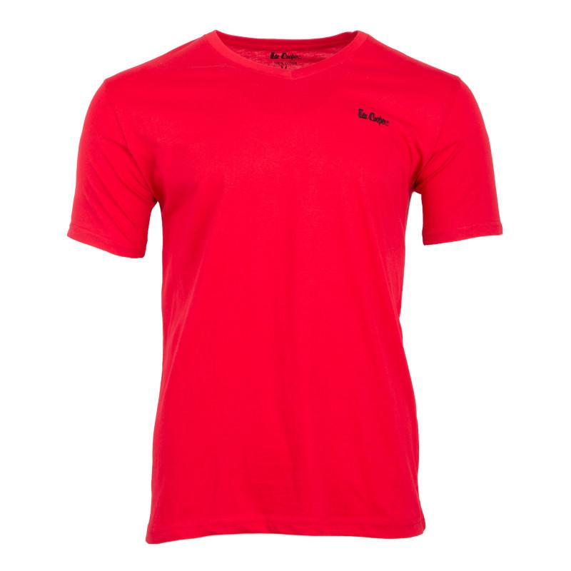 Tee shirt col V manches courtes ilenzo Homme LEE COOPER marque pas cher prix dégriffés destockage