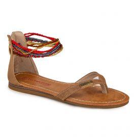 Sandale c09075ginkgo 36/41 tan Femme LES TROPEZIENNES PAR M.BELARBI