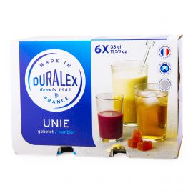 Lot de 6 verres 33cl unie Mixte DURALEX