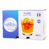 Lot de 6 verres 26cl pure  Mixte DURALEX