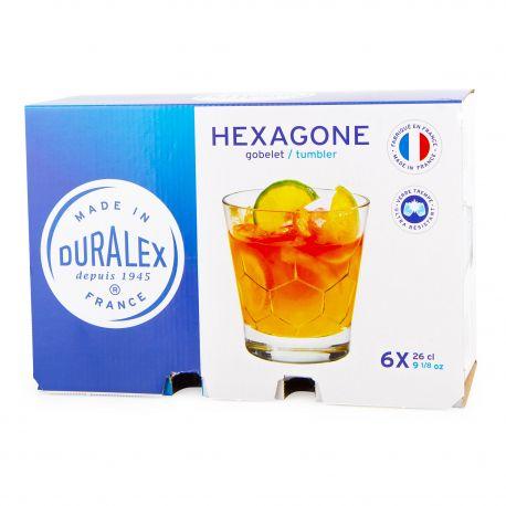 Lot de 6 verres 26cl hexagone Mixte DURALEX