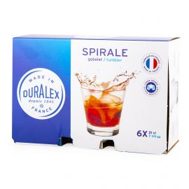 Lot de 6 verres 21cl spirale  Mixte DURALEX