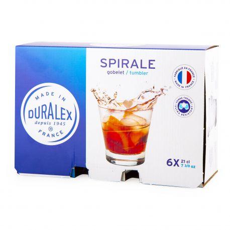 Lot de 6 verres 21cl spirale  Mixte DURALEX