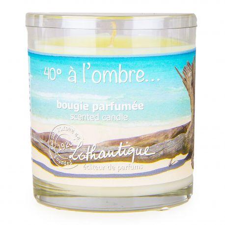 Bougie parfumée senteur monoï 140g Mixte 40° à l'ombre LOTHANTIQUE marque pas cher prix dégriffés destockage