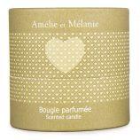 Bougie parfumée héliotrope 200g Mixte Amélie et Mélanie LOTHANTIQUE marque pas cher prix dégriffés destockage