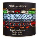 Bougie parfumée vanille rose 200g Mixte Amélie et Mélanie LOTHANTIQUE marque pas cher prix dégriffés destockage