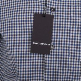 Chemise manches longues à petits carreaux Homme TED LAPIDUS