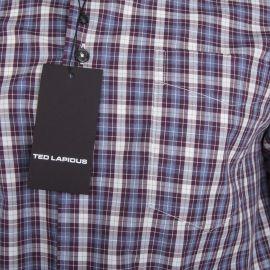 Chemise à motifs carreaux manches longues Homme TED LAPIDUS