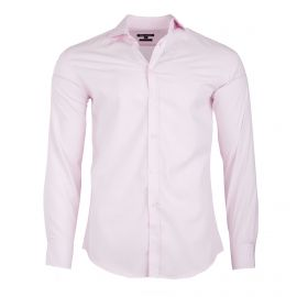 Chemise rose clair manches longues Homme TED LAPIDUS