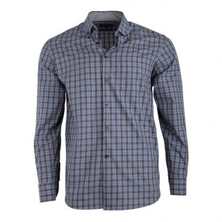 Chemise carreaux bordeaux gris DDP homme