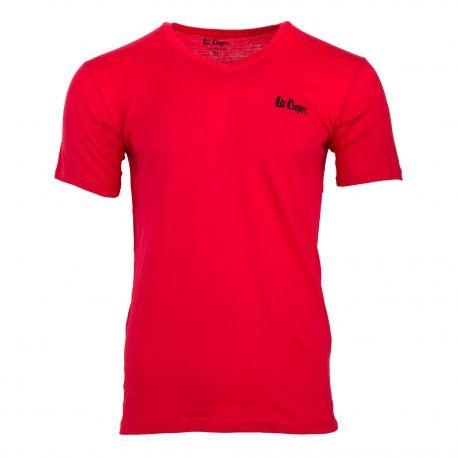 Tee shirt col v coton hollywood/lee cooper Homme LEE COOPER
