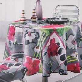 Nappe ronde orchidee 180cm photoprint  Mixte HARMONIE DU DECOR