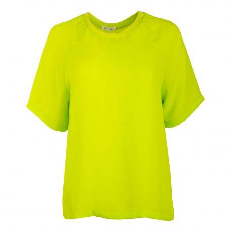 Tee-shirt vert à manches courtes Femme Rosa AMERICAN VINTAGE marque pas cher prix dégriffés destockage