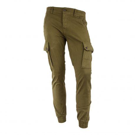 Pantalon kaki style cargo Homme JACK AND JONES marque pas cher prix dégriffés destockage